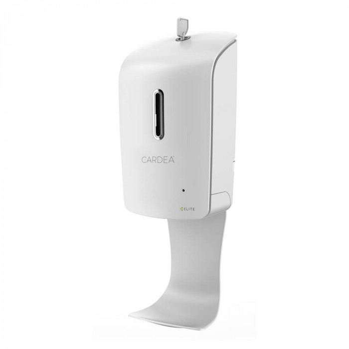 Wall-mounted automatic hand sanitizer dispenser station