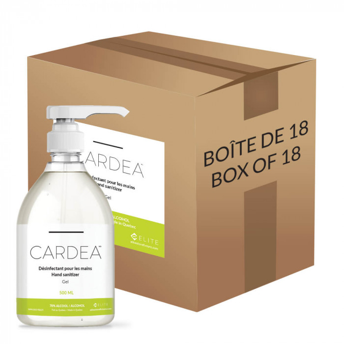 CARDEA antibacterial gel 70% alcohol disinfectant 500 ml (Box of 18)
