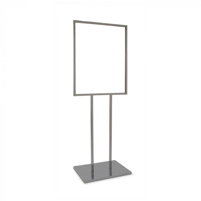 Bulletin sign holder 22'' x 28''  w/ extra-heavy raised base