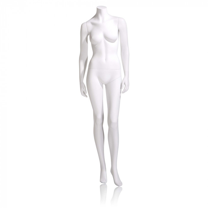 Female mannequin - headless, hands by side, left leg slightly bent
