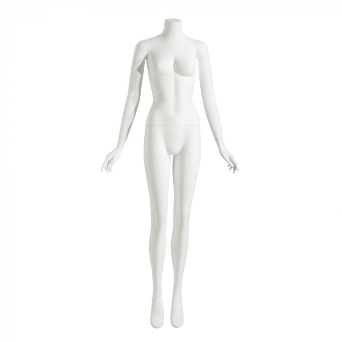 Female mannequin - headless, arms by side