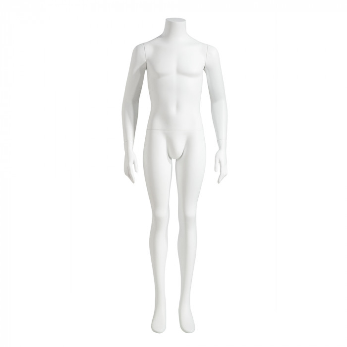Male mannequin - headless, arms at sides