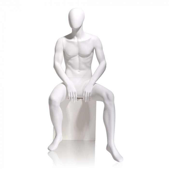 Male mannequin - oval head, seated