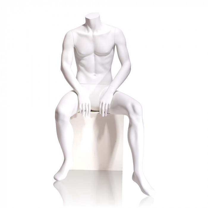 Male mannequin - headless, seated