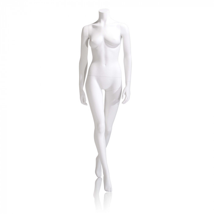 Female mannequin - headless, hands by side, left leg back