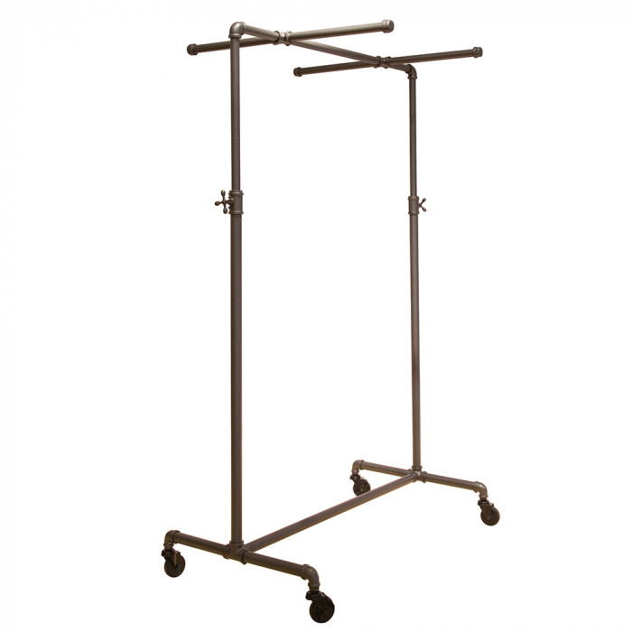 Pipeline adjustable ballet rack with two cross bars