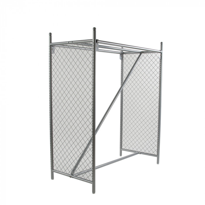 Double hangrail floor rack 50-1/2''l x 24-3/4''w x 60''h