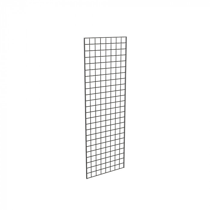 Grid panels 24''L x 72''H, black semigloss