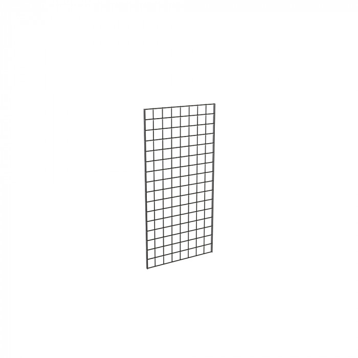 Grid panels 24''L x 48''H, black
