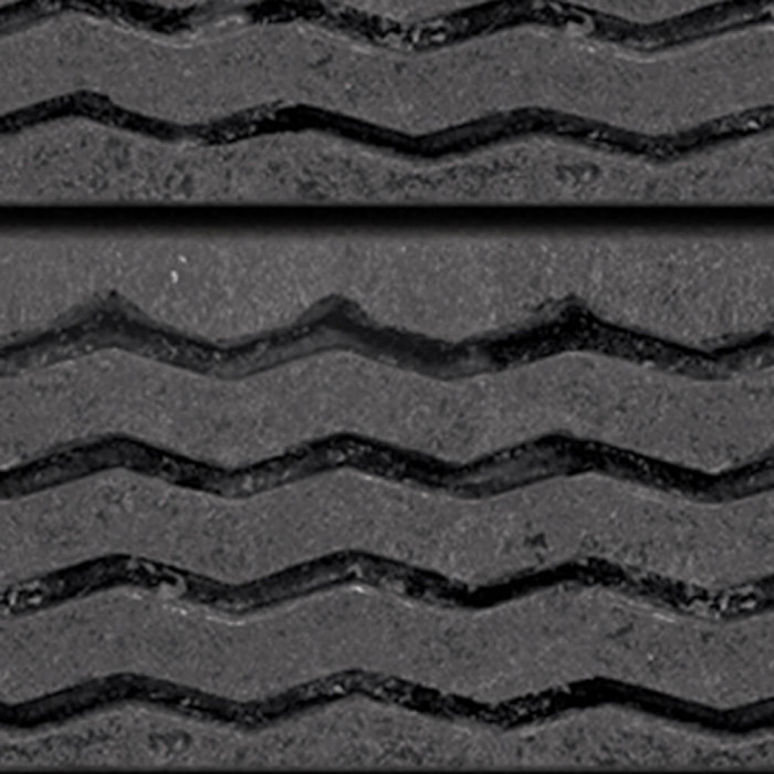Slatwall decorative textured panels, Tire Tread
