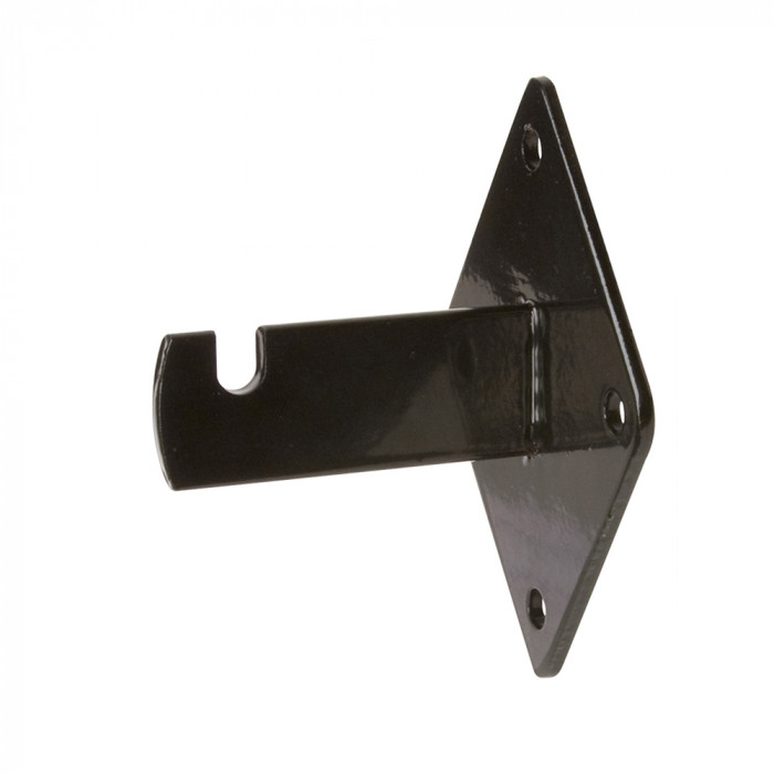 Wall bracket 3 3/4''L x 2 1/2''W x 3''H black semigloss