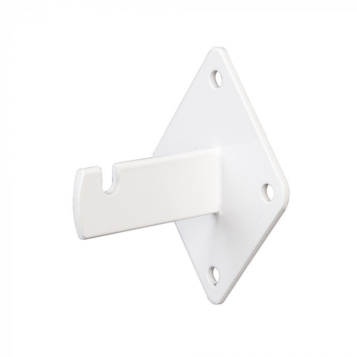 Wall bracket 3 3/4''L x 2 1/2''W x 3''H white semigloss