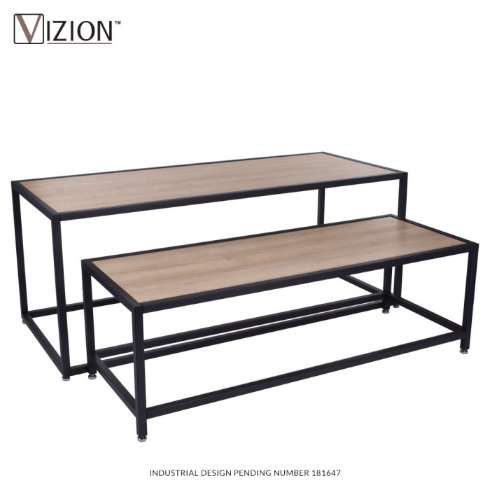 Nesting tables (1 Large and 1 Small) with melamine panel
